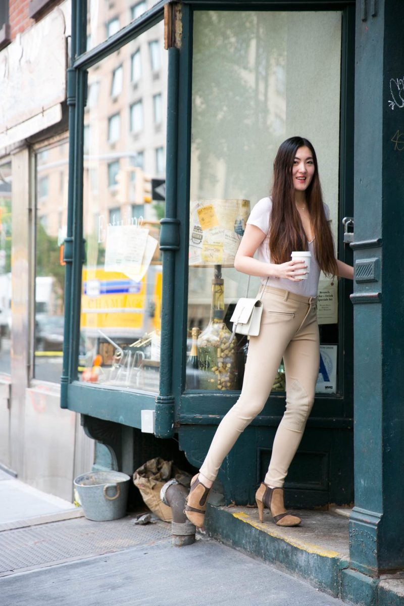 Casual outfit in West Village.